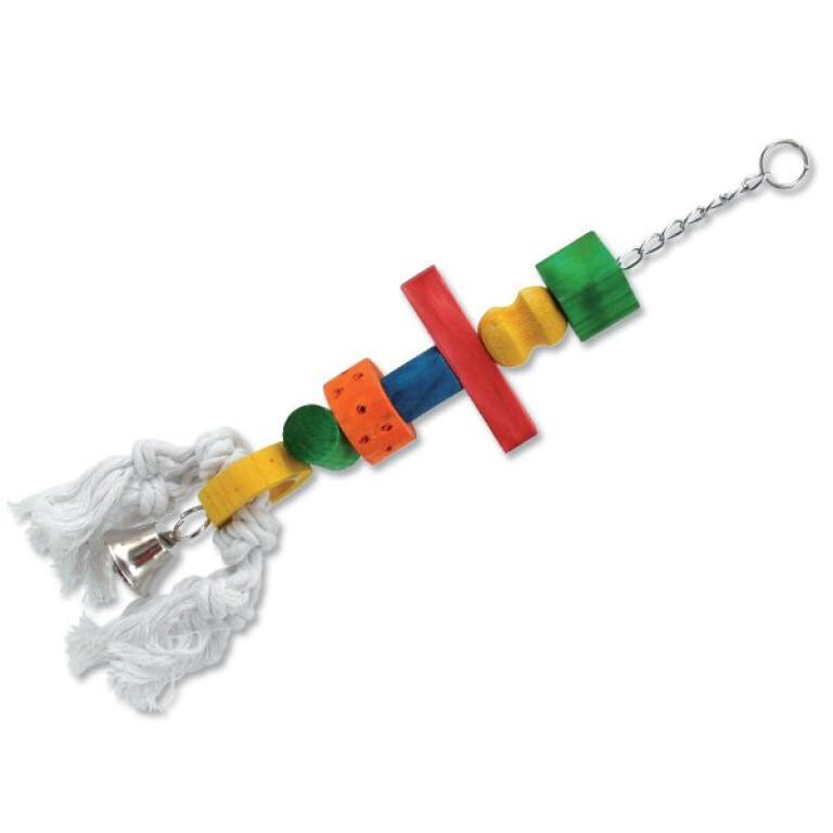 Závěsná hračka s bavlněným provazem a zvonkem